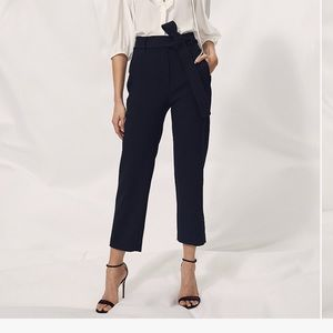 Black Wilfred Tie-Front Pant